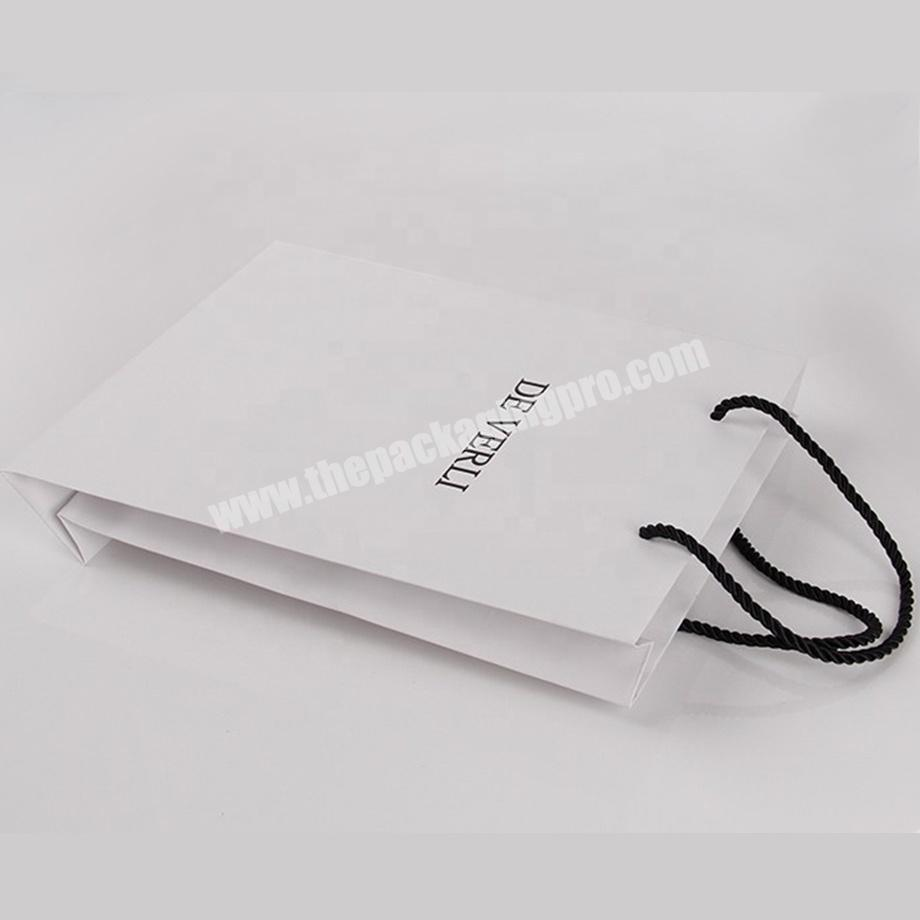 Supplier custom white jewelry merchandise paper bags with logo