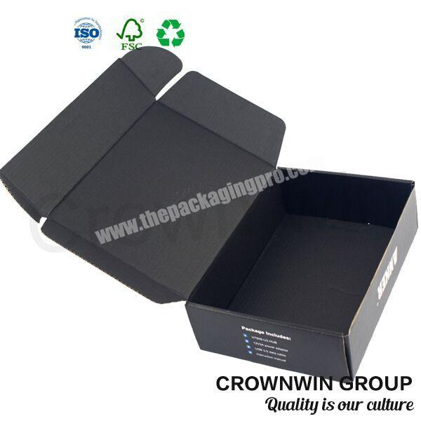 Custom White Unique E Flute Corrugated Box CrownWin Packaging