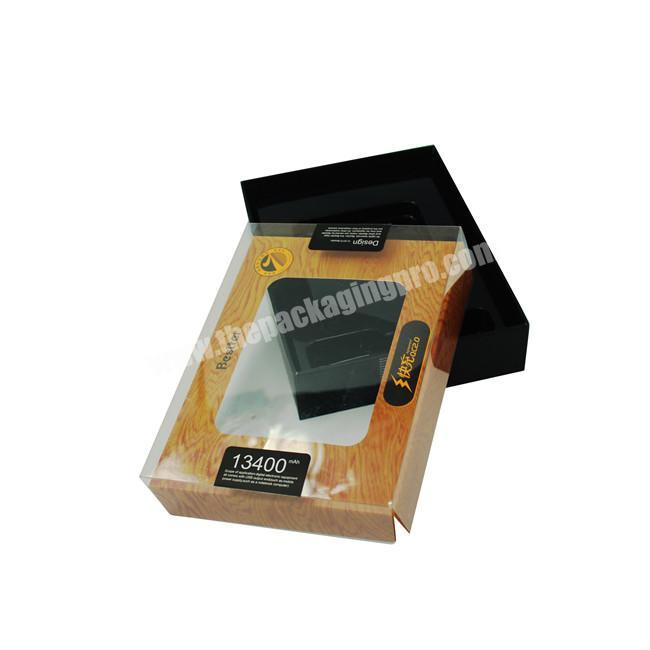 Custom Wholesale Clear Window Box Packaging For Phone Power Mate