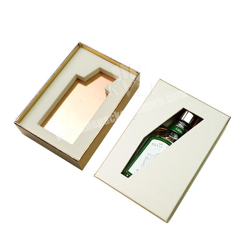 Customised laser cutting cardboard gift box with foam insert blank slotted perfume paper box packaging