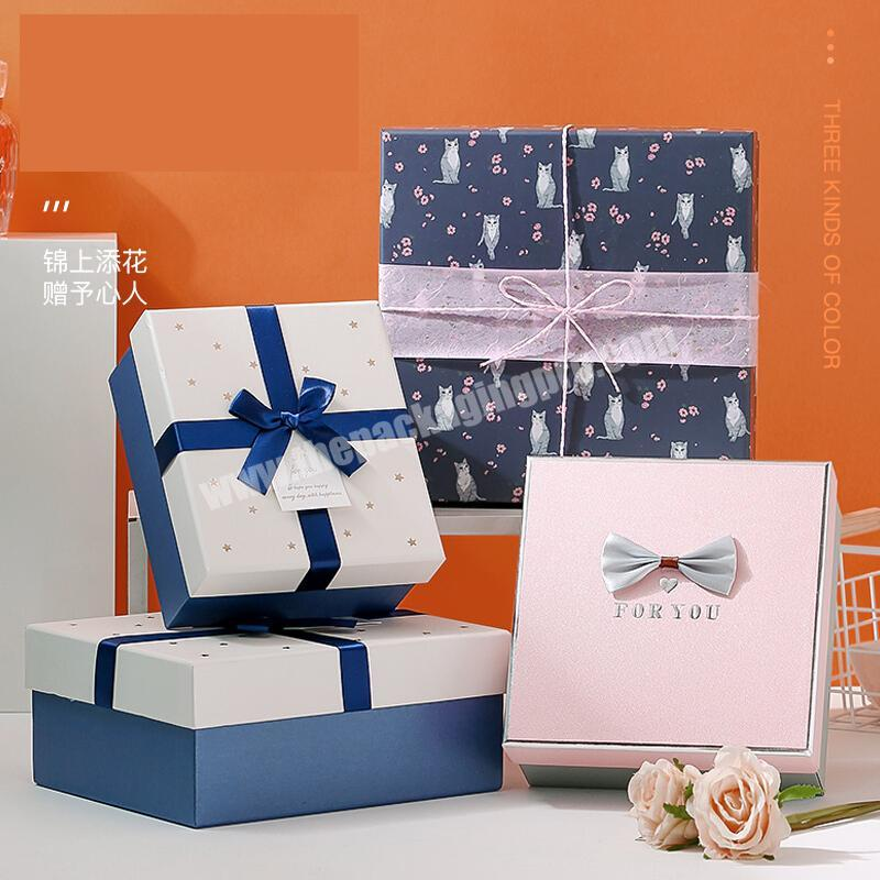 Wholesale Customization gift size hot stamping pink color essential oil boxes pack silver plating packing perfume boxes with Bow