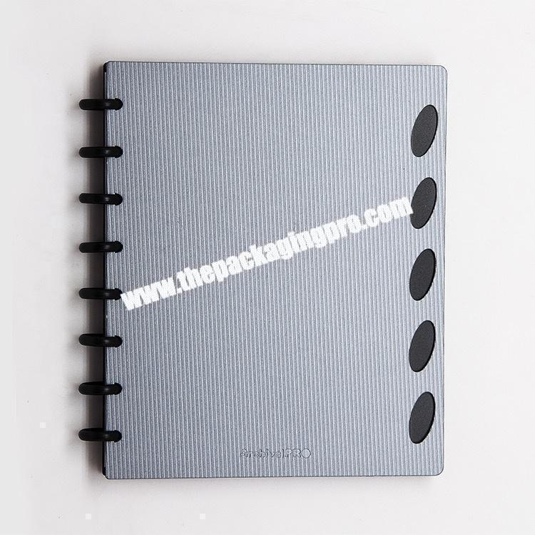 Customize And Promotional Color Loose Leaf Office School Exercise Spiral Notebook A5 PP Cover Waterproof Journal Notebooks