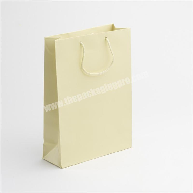 Customize fancy gift shopping paper bag for ribbon