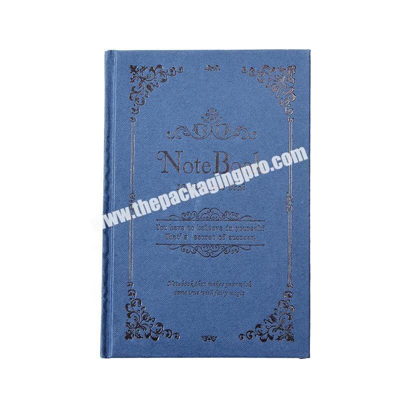 Custom Customized A4 A5 A6 Hardcover Magic Notebooks Traditional Lined Hardback Journal Blue Engraved Embossed  PU Leather Notebook