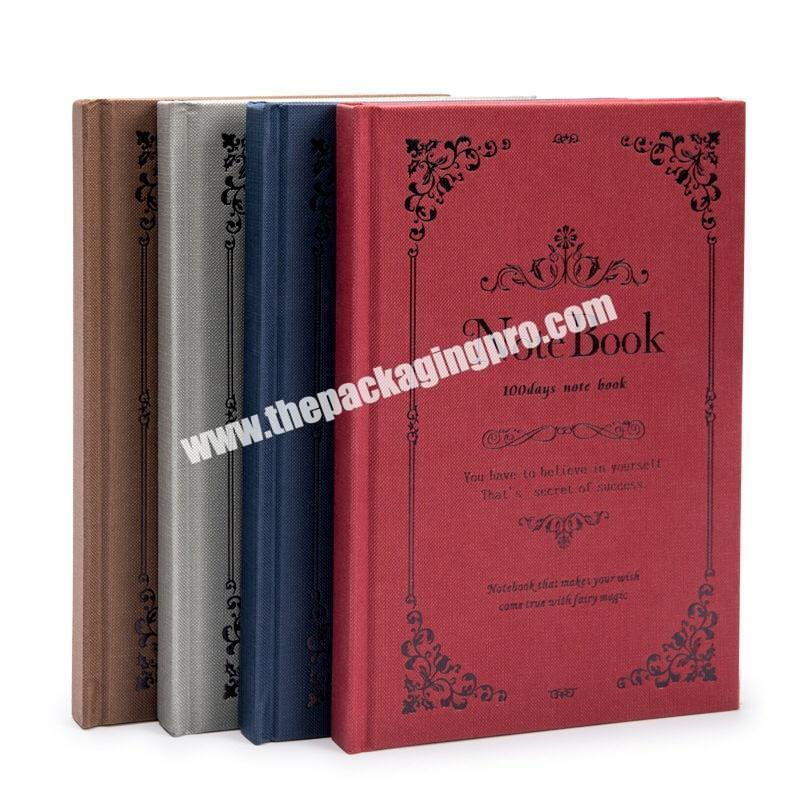 Wholesale Customized A4 A5 A6 Hardcover Magic Notebooks Traditional Lined Hardback Journal Blue Engraved Embossed  PU Leather Notebook