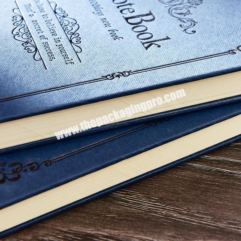 Shop Customized A4 A5 A6 Hardcover Magic Notebooks Traditional Lined Hardback Journal Blue Engraved Embossed  PU Leather Notebook