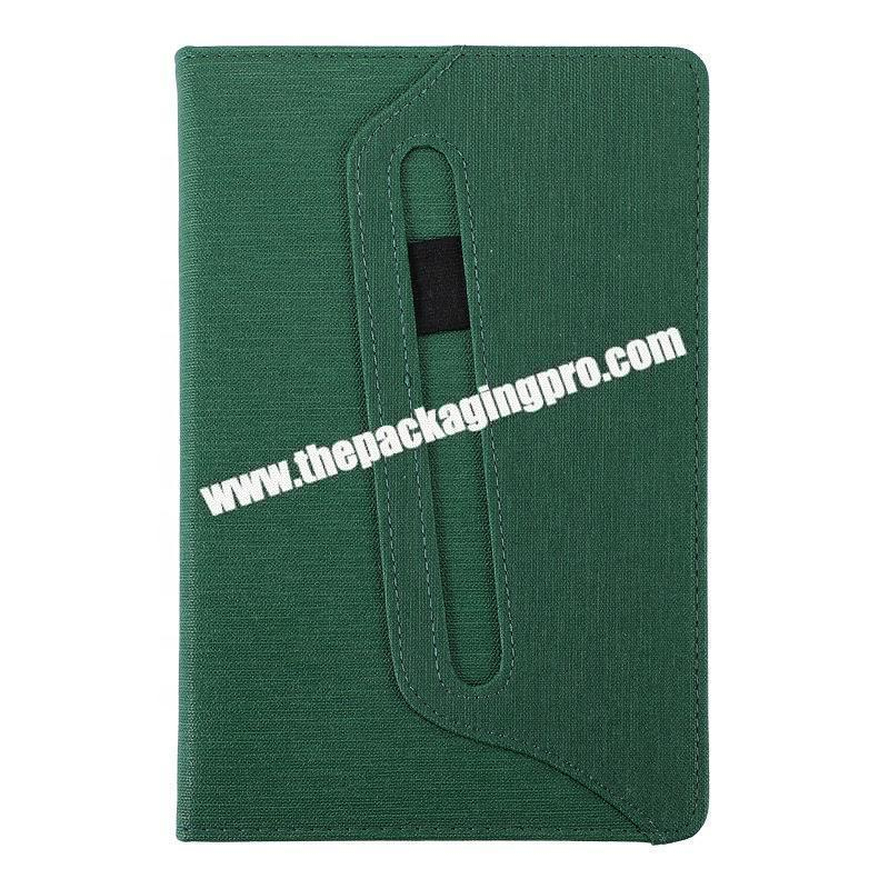 Customized A5 A6 B5 Luxury Gift Office Diary Notebook PU Leather Refillable Agenda With Pen For School Business Office