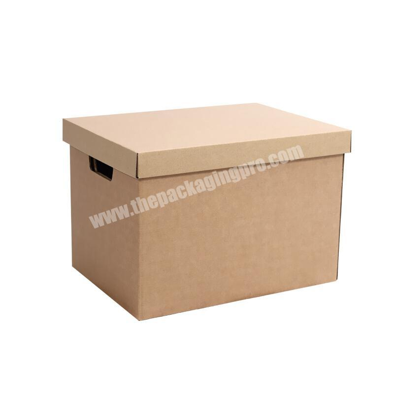 Customized Cheap Kraft Corrugated Paper Box Office File Clothes Packaging Mailer Postal Large Packing Boxes For Shipping Mail