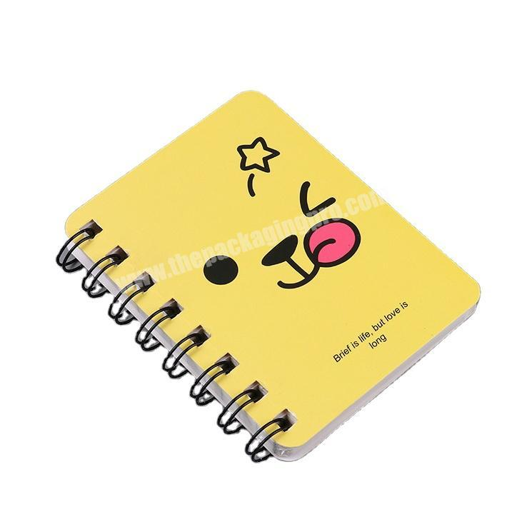 Customized cute hardcover pocket spiral notebook printing