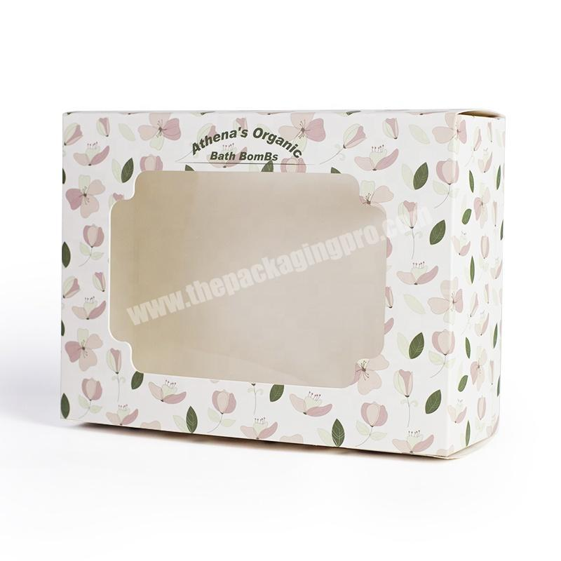Customized design durable paper window baby toy packaging gift sweet boxes