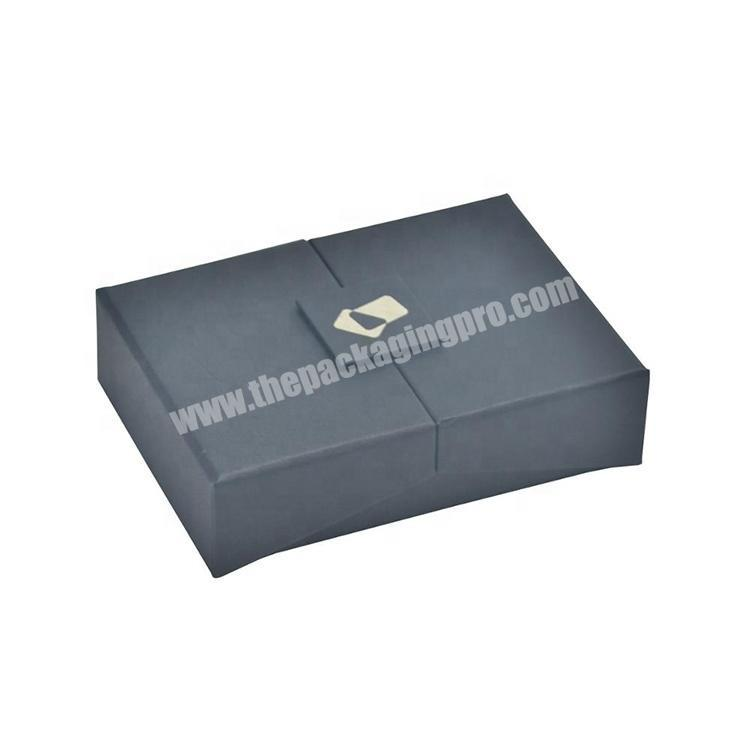 Customized Eco Black Paper Packaging Credit Card Gift Box With Foam Holder