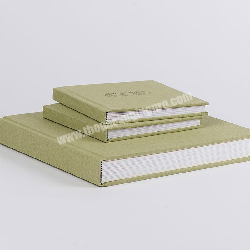 Wholesale Customized high-end brand marketing promotion linen cover notebooks notebook book printing