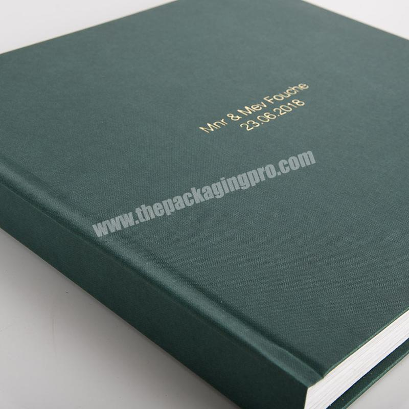 Factory Customized high-end brand marketing promotion linen cover notebooks notebook book printing