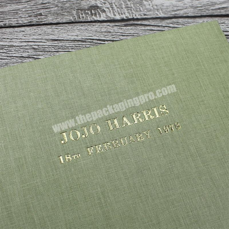Manufacturer Customized high-end brand marketing promotion linen cover notebooks notebook book printing