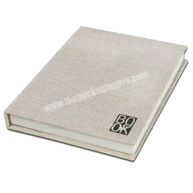 Supplier Customized high-end brand marketing promotion linen cover notebooks notebook book printing