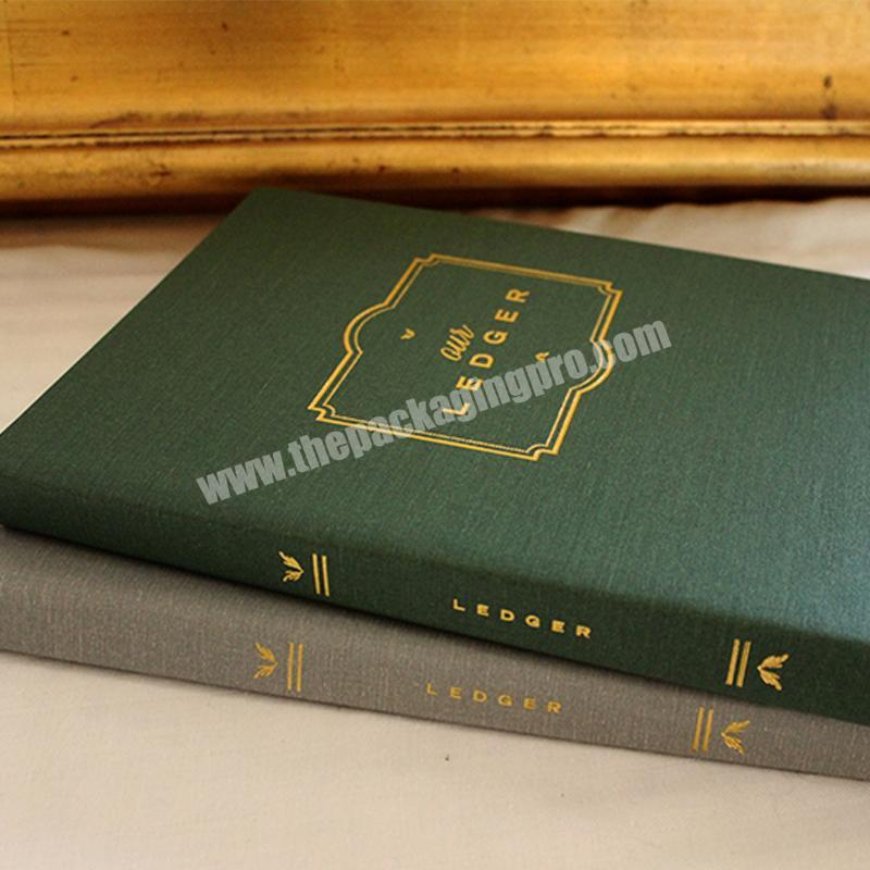 Shop Customized high-end brand marketing promotion linen cover notebooks notebook book printing