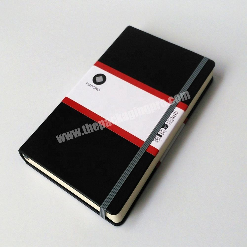 Custom Customized Logo PU Leather Cover Business Notebook Eco-friendly Paper Diary