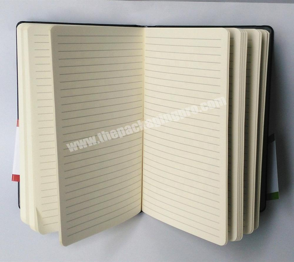 Manufacturer Customized Logo PU Leather Cover Business Notebook Eco-friendly Paper Diary