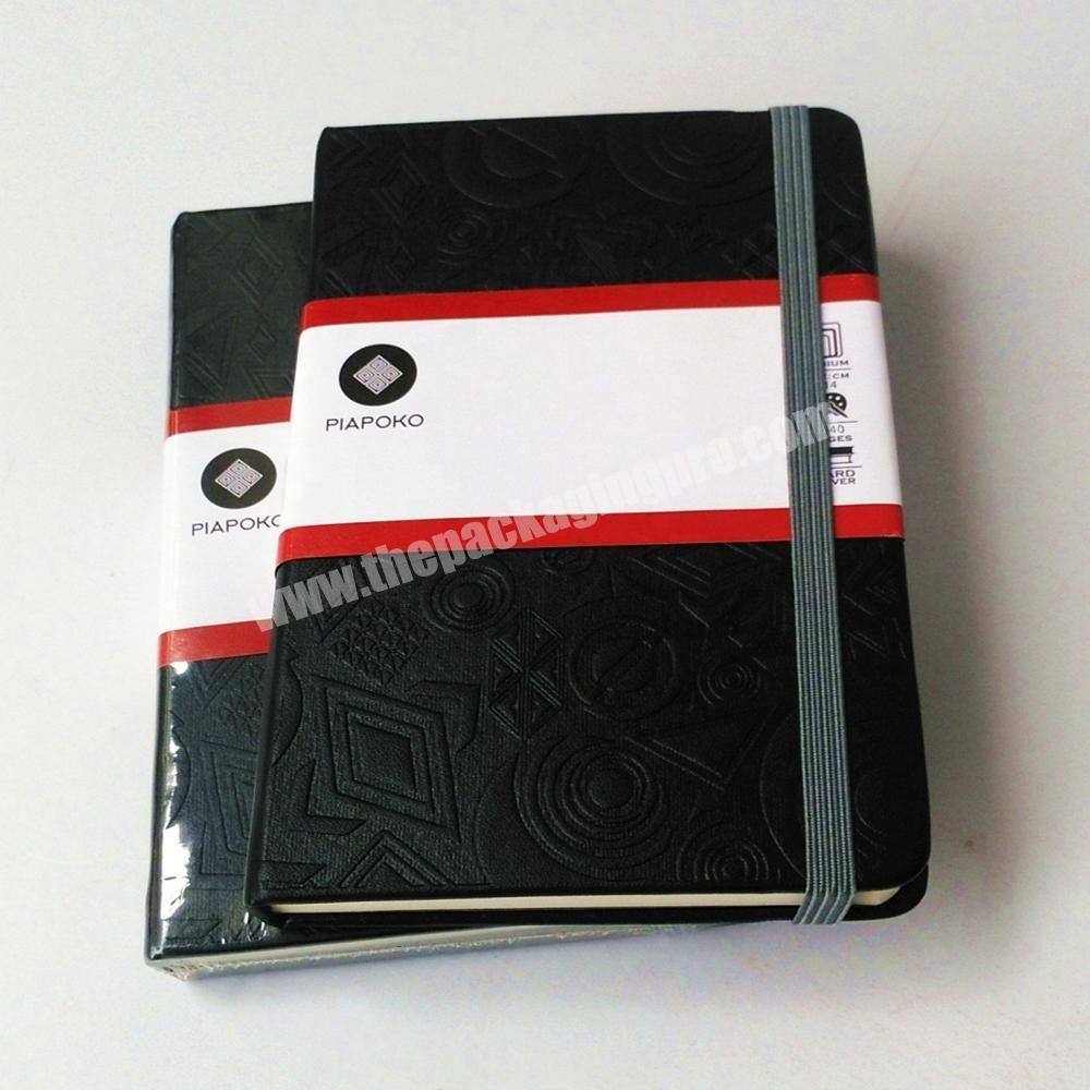 Factory Customized Logo PU Leather Cover Business Notebook Eco-friendly Paper Diary