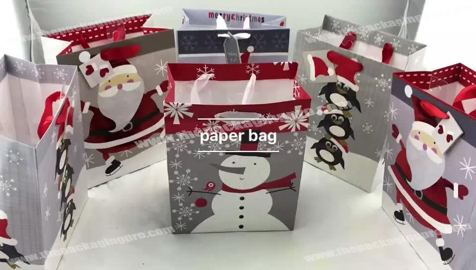 Customized low cost logo printed  machine made paper bags for shopping
