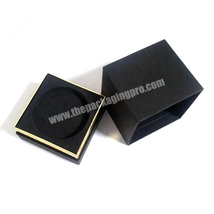 Customized Luxury Cardboard Paper Packaging 2 Piece Lid And Base Candle Gift Box