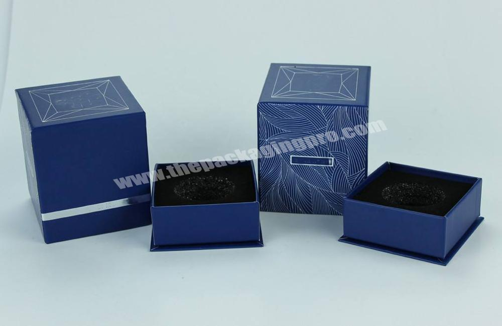 Manufacturer customized luxury rigid perfume box packaging with magnetic closure on top