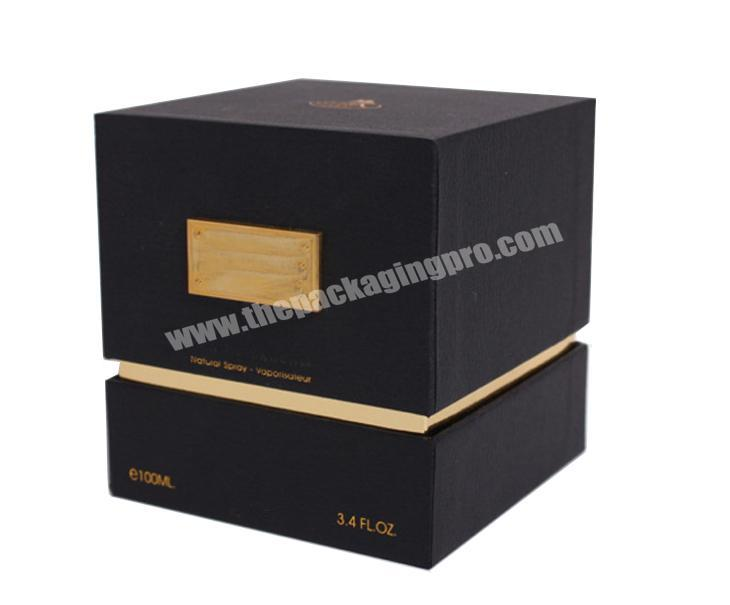 Factory customized luxury rigid perfume box packaging with magnetic closure on top