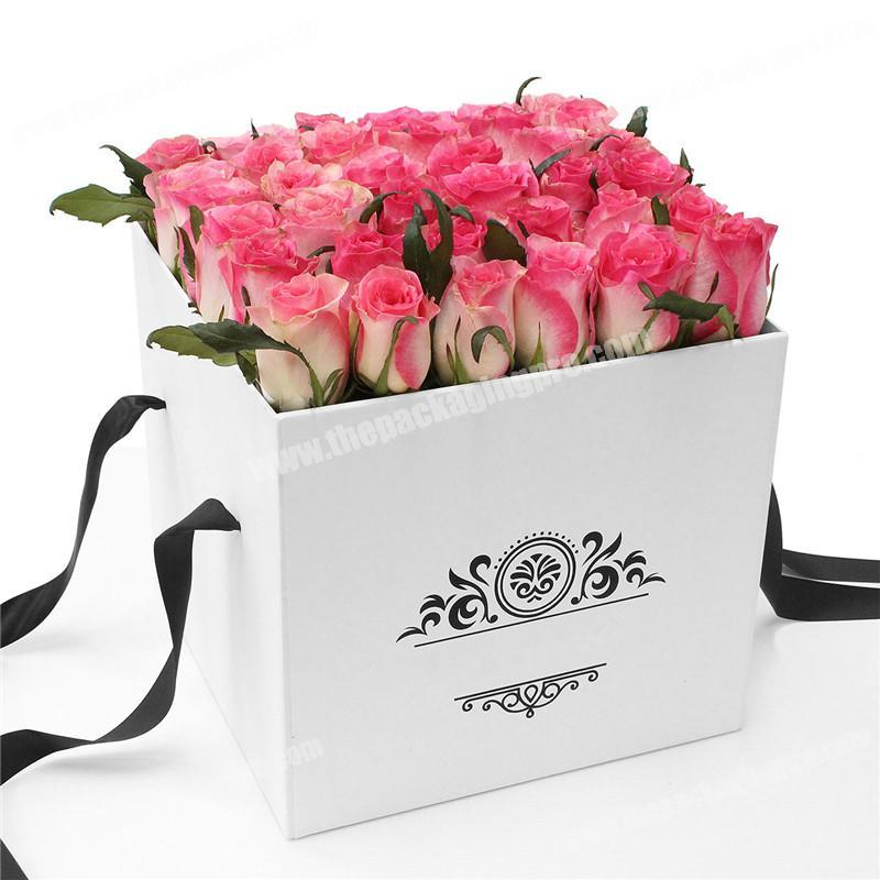 Customized luxury rose flower packaging box