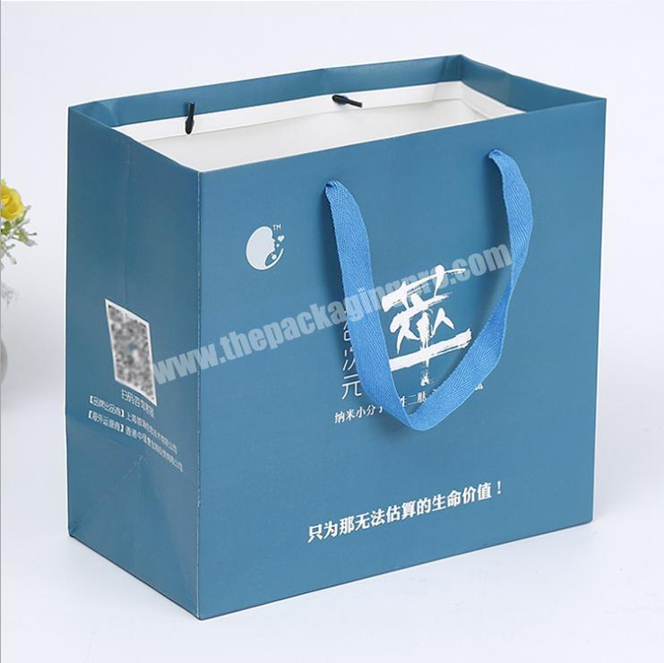 customized paper bags luxury paper bag with ribbon paper bag supplier