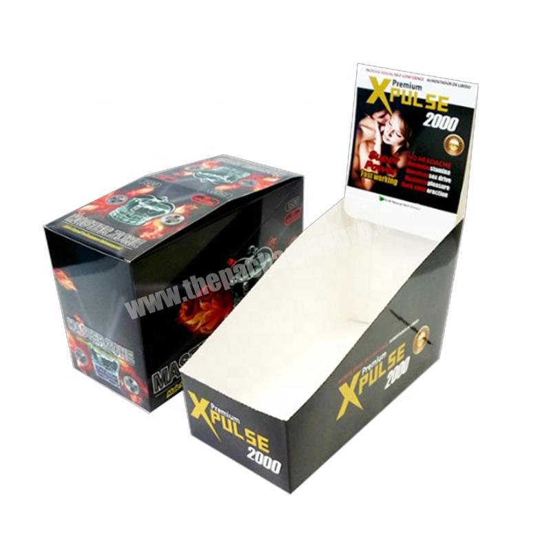 customized Paperboard cardboard counter pop display box packaging