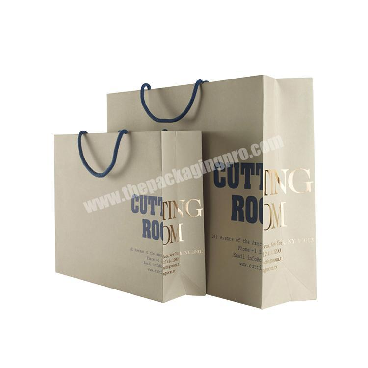 Customized Printed Wholesale Paper Bags Craft Rerecycled Brown Kraft Paper Bag
