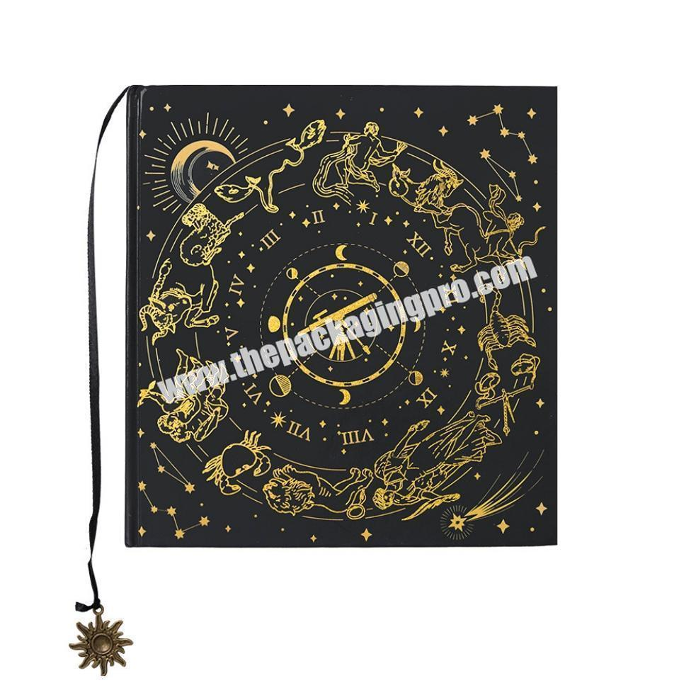 Customized Printing A4 B5 Large Hardcover Thick 150GSM 180GSM 200GSM Paper Sketchbook With Logo Gold Silver Stamping