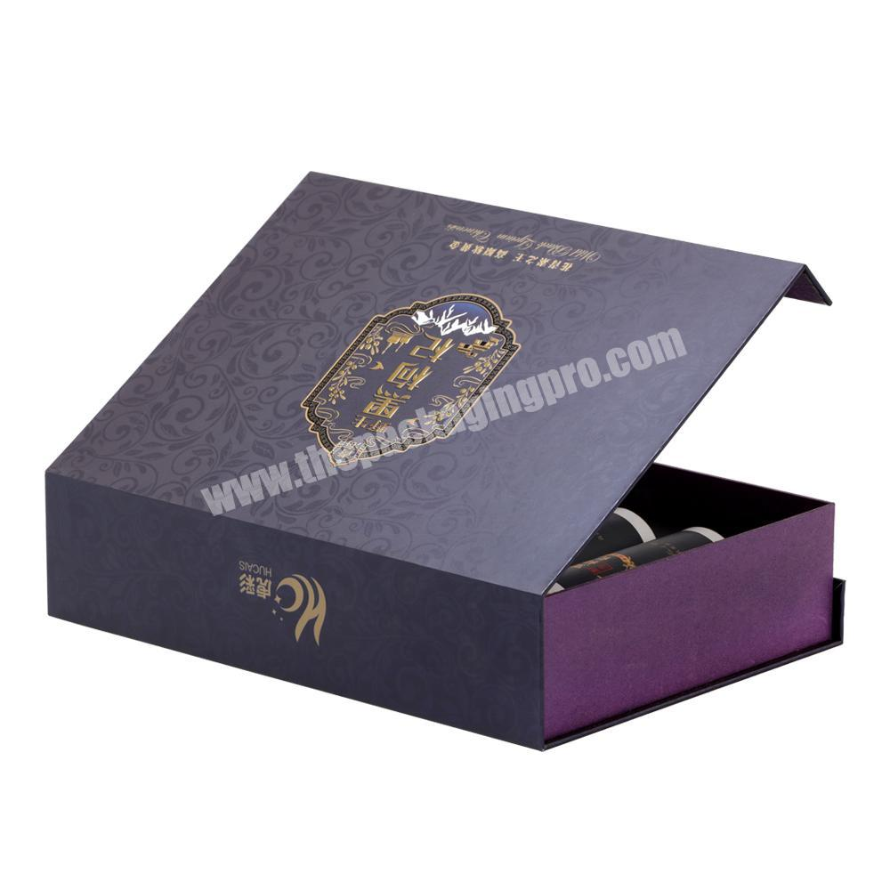 Manufacturer Customized Printing Handmade  Lid Hinged Base Paper Box with Magnetic Closure for  Health Product & Cosmetics