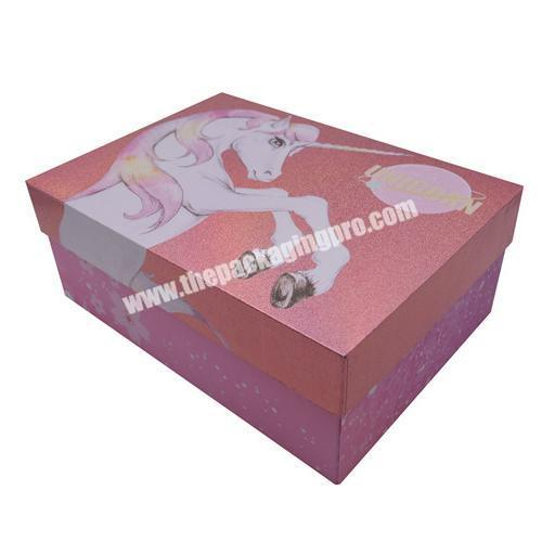 Customized Printing Paperboard Shoes Packaging Storage Box Gift Box Decorative Packing for Apparel High Heels Mailing Gift Box
