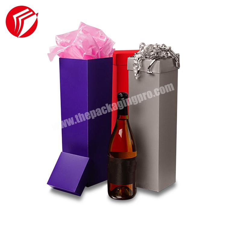 Customized Recycled Rigid rectangular Cylinder Paper Gift Box Packaging Wine Boxes