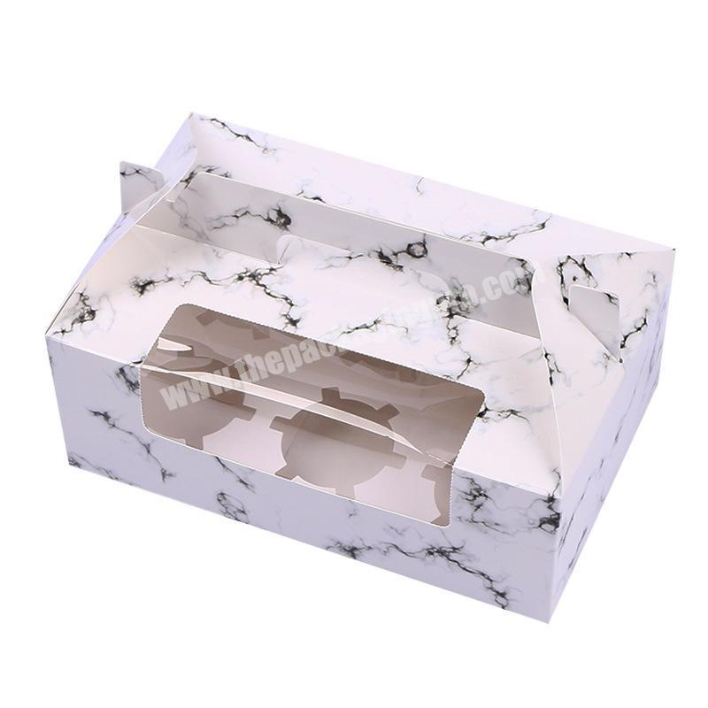 Customized Size Accept Cheapest Price Pastries Cakes Packing Cardboard Boxes With Clear Window