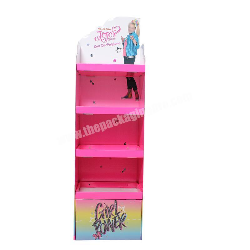 Customized size mobile phone accessories cardboard retail counter top view display boxes