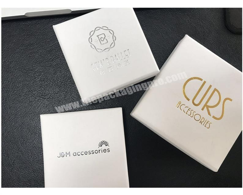 Customized white paper boxes with personalized logo jewelry box packaging
