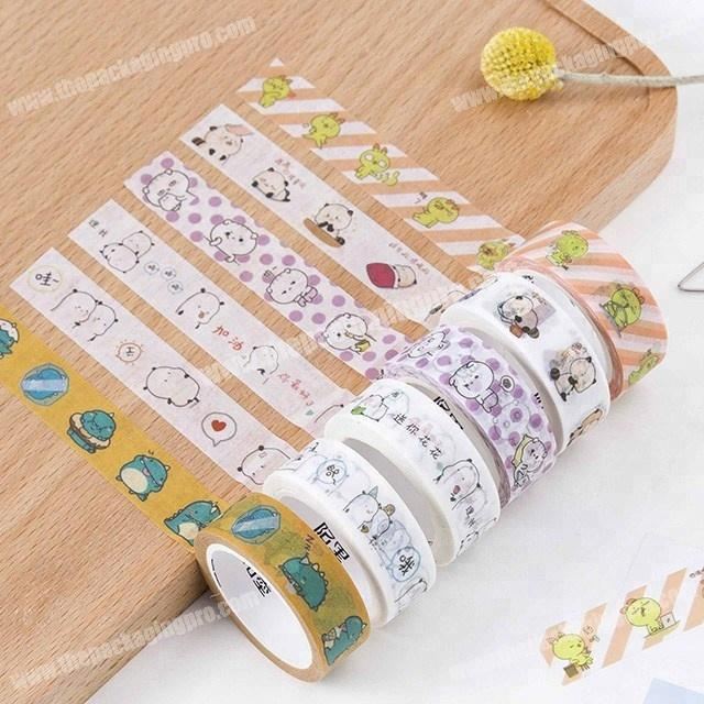 Supplier Cute meme decorative adhesive custom printed washi masking paper tape