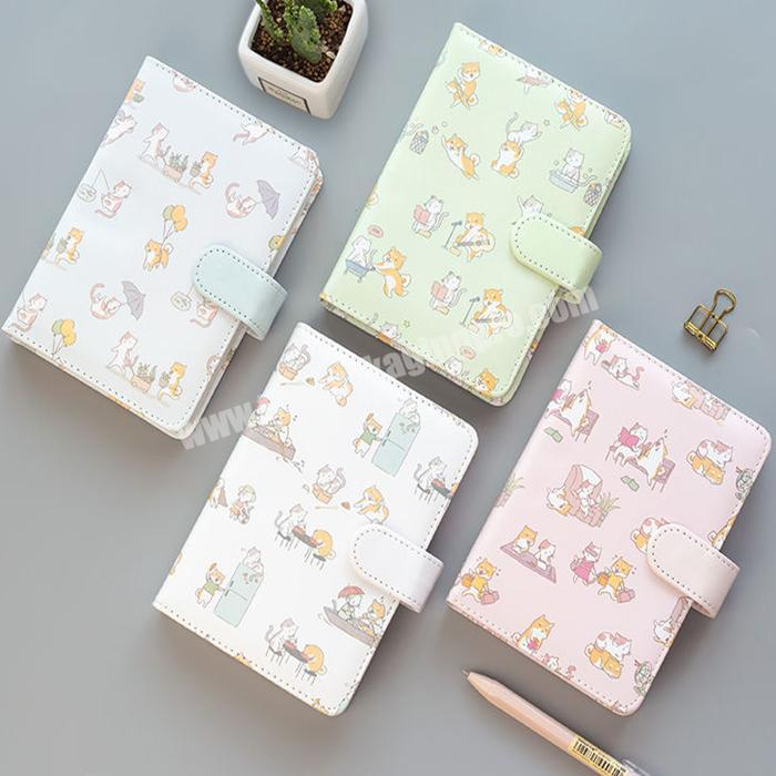 Wholesale Cute Printed Cover Notebook Eco-friendly Hand Book Diary Leather Cover Planner