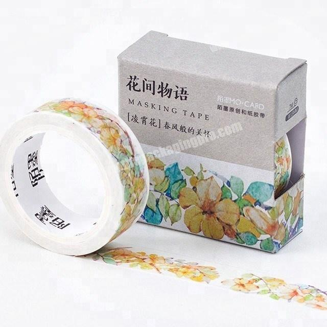 Decorative beautiful flower Japanese custom printed washi tape paper for wholesale