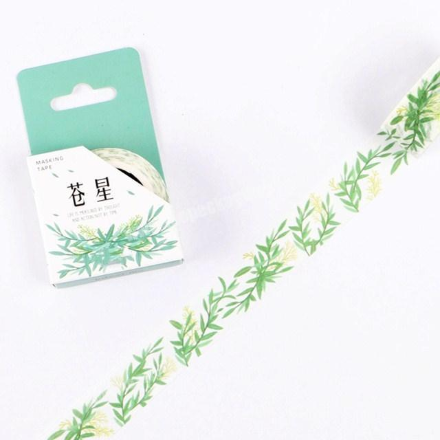 Decorative green plants customized washi tape printed paper