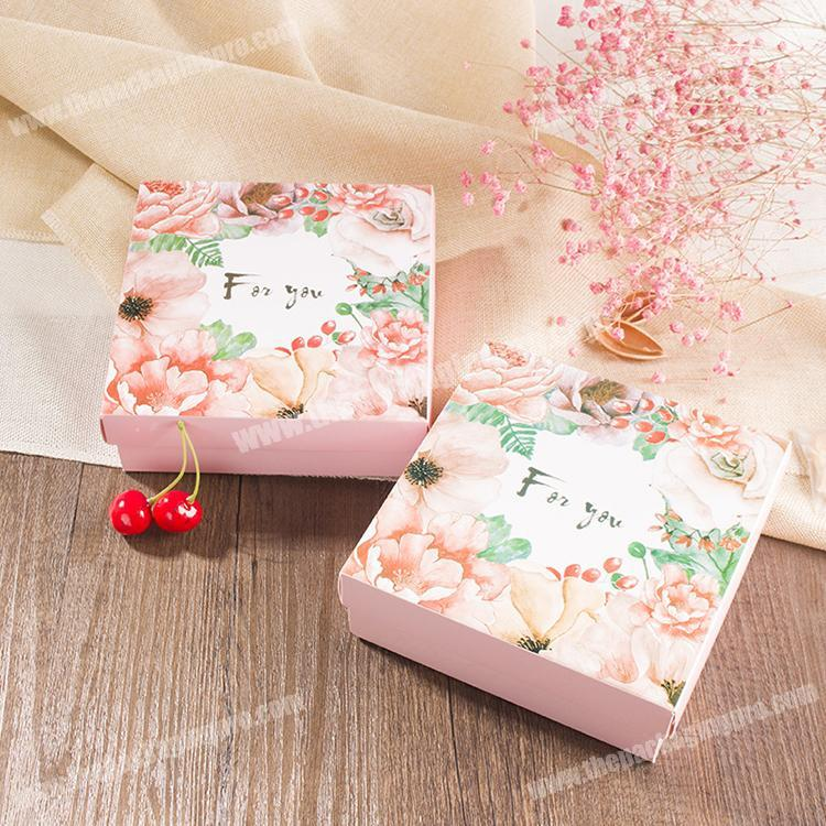 Decorative small heart shaped kraft paper candy and chocolate box
