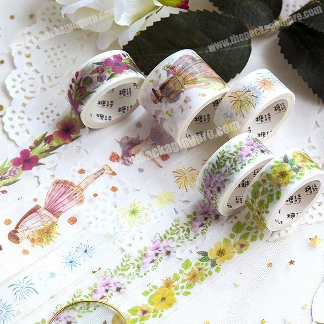 Shop Decorative the beauty of flowers custom printed make washi paper tape
