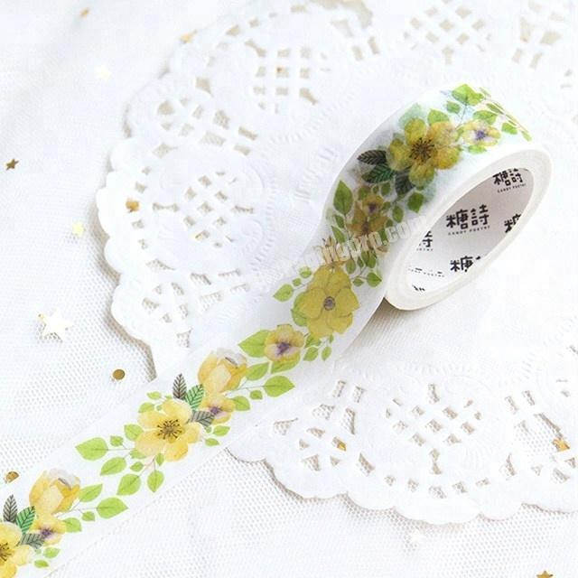 Factory Decorative the beauty of flowers custom printed make washi paper tape