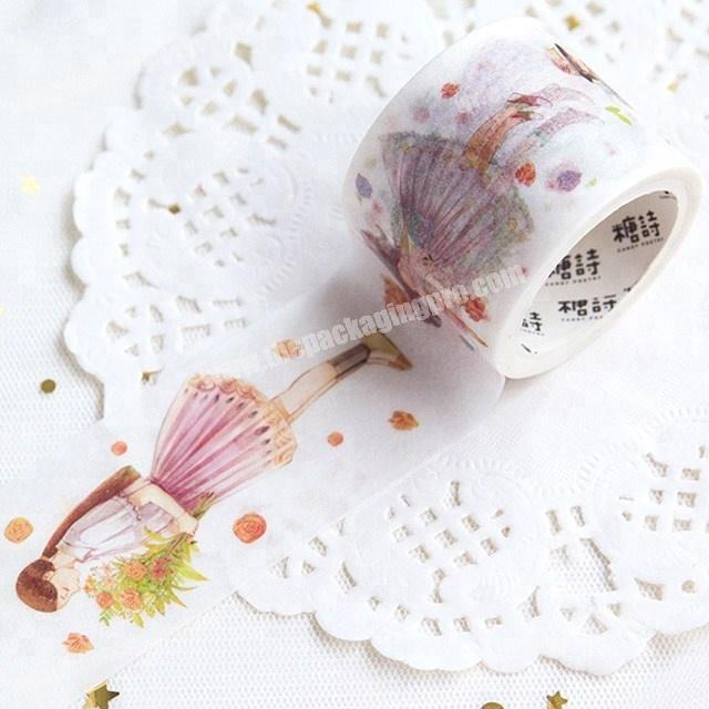 Supplier Decorative the beauty of flowers custom printed make washi paper tape