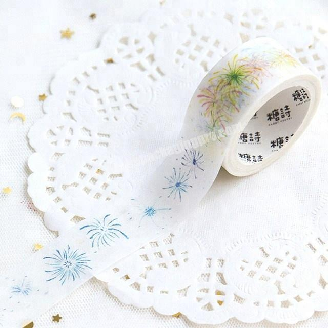 Wholesale Decorative the beauty of flowers custom printed make washi paper tape