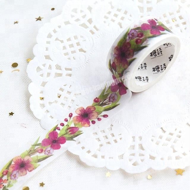 Manufacturer Decorative the beauty of flowers custom printed make washi paper tape