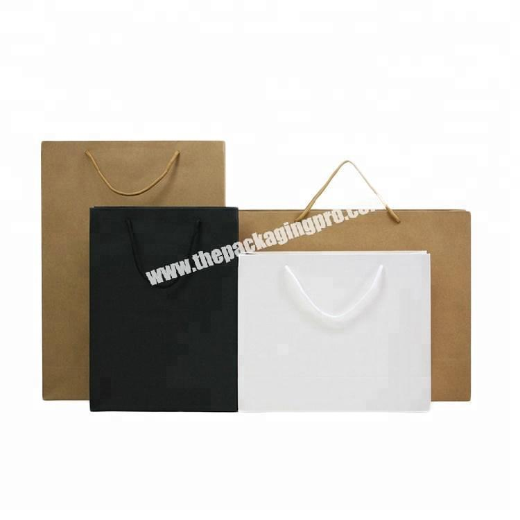 different size craft packing bag, packing paper bag for clothes
