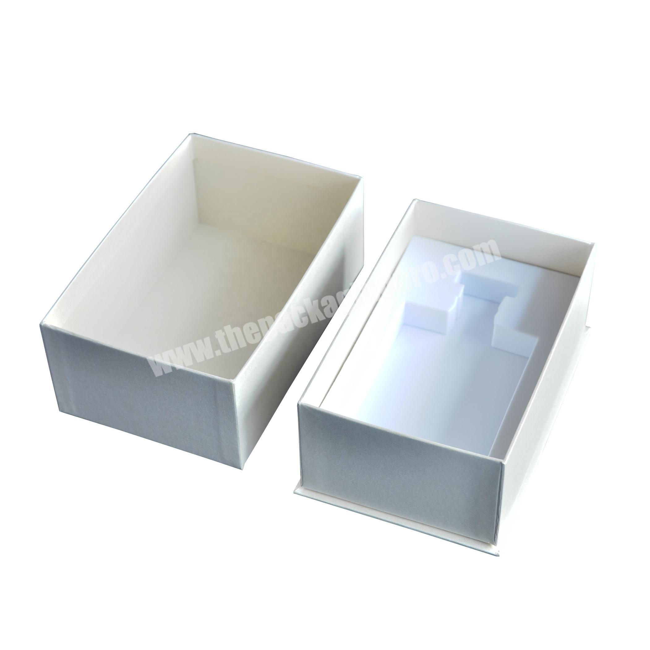 Direct factory sale empty paper perfume packaging box with foam insert